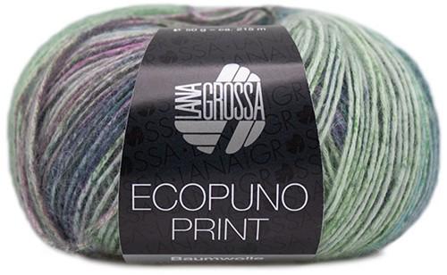 Lana Grossa Ecopuno Print 201 Plum blue / lilac / ecru / pink / petrol