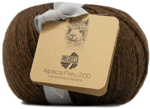 Lana Grossa Alpaca Peru 200 221 Dark Brown