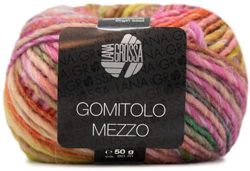 Lana Grossa Gomitolo Mezzo 111 Mustard / Orange / Dark Green / Antique Violet / Yellow-Green / Sering / Light Grey / Green