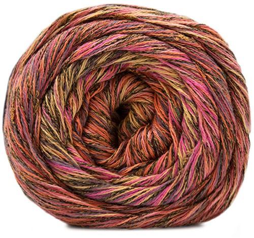 Lana Grossa Gomitolo Summer Tweed 003 Dark Grey / Cyclaam / Yellow / Grey / Salmon / Light Orange