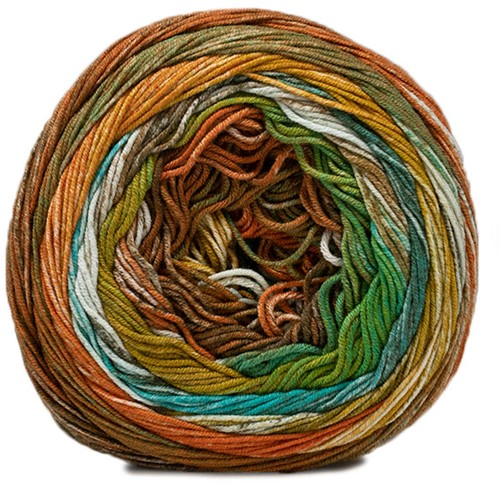 Lana Grossa Gomitolo Denim Inca 156 Yellow-Green / Smaragd / Nature / Dark Grey / Orange / Mustard / Khaki / Turquoise
