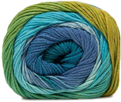 Lana Grossa Gomitolo Aloha 304 Turquoise / Blue / Smaragd / Apple Green / Yellow / Sky Blue