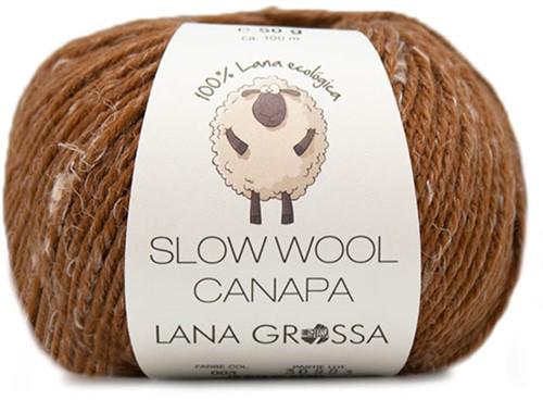 Lana Grossa Slow Wool Canapa 003 Brown