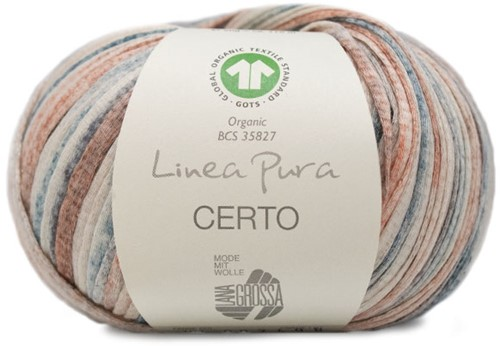 Lana Grossa Certo Print 104 Grey-Blue / Dark Grey / Red-Brown / Nature