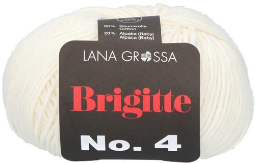 Lana Grossa Brigitte No.4 001 Ecru