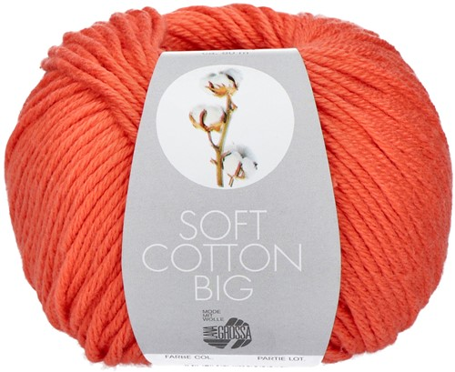 Lana Grossa Soft Cotton Big 7 Coral