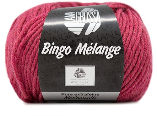 Lana Grossa Bingo Melange 247 Raspberry Mottled