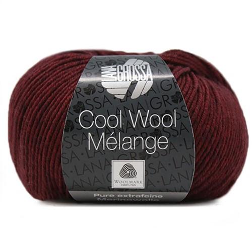 Lana Grossa Cool Wool Melange 152 Dark Red/Black Red Mottled