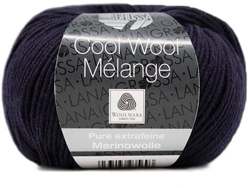 Lana Grossa Cool Wool Melange 153 Night Blue Mottled