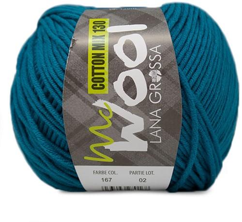 Lana Grossa Cotton Mix 130 167 Petrol Blue