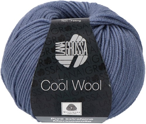 Lana Grossa Cool Wool 2037 Gray Blue