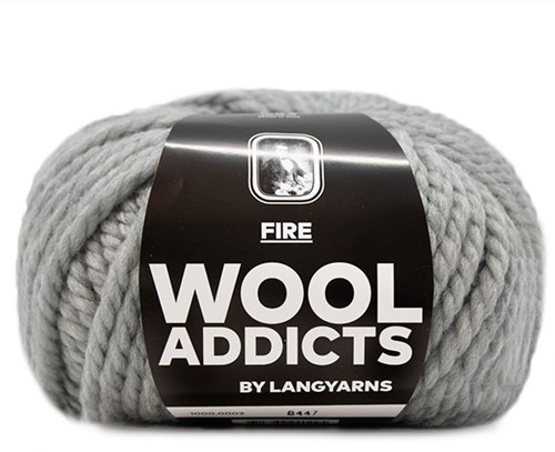Lang Yarns Wooladdicts Fire 003 Light Grey Mélange