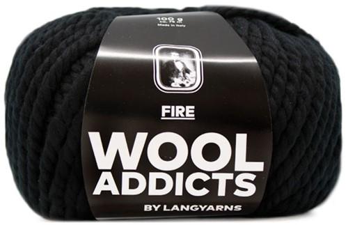 Lang Yarns Wooladdicts Fire 004 Black