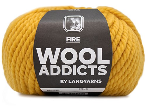 Lang Yarns Wooladdicts Fire 011 Mustard Yellow