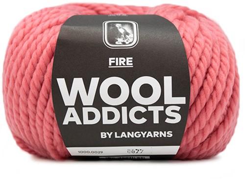 Lang Yarns Wooladdicts Fire 029 Rose