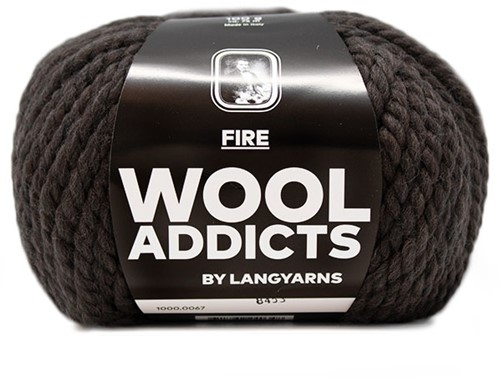 Lang Yarns Wooladdicts Fire 067 Dark Brown