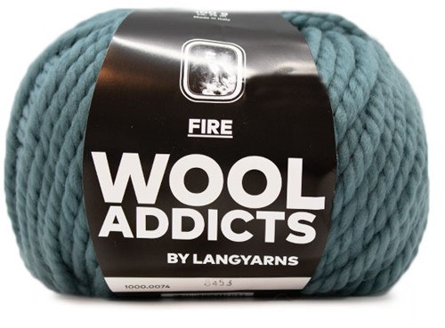 Lang Yarns Wooladdicts Fire 074 Atlantic