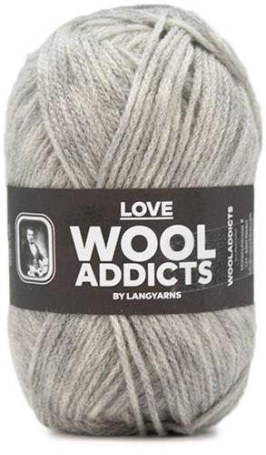 Lang Yarns Wooladdicts Love 003 Light Grey Mélange
