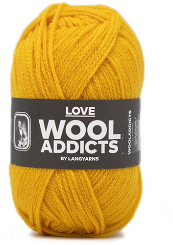 Lang Yarns Wooladdicts Love 011 Mustard Yellow