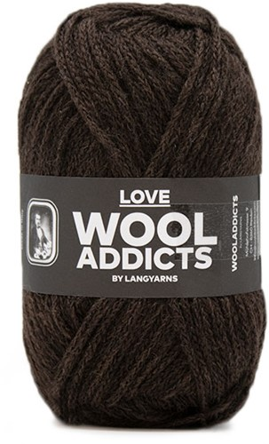 Lang Yarns Wooladdicts Love 067 Dark Brown