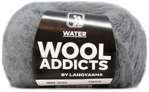 Lang Yarns Wooladdicts Water 003 Light Grey Mélange
