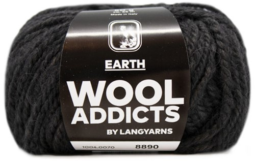 Lang Yarns Wooladdicts Earth 070 Anthracite