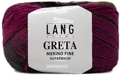 Lang Yarns Greta 051 Fuchsia / Light Olive