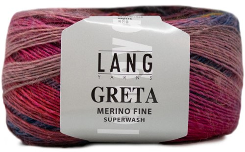 Lang Yarns Greta 054 Green / Light Brown / Grey / Yellow