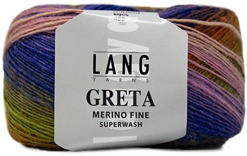 Lang Yarns Greta 057 Lilac / Green / Blue