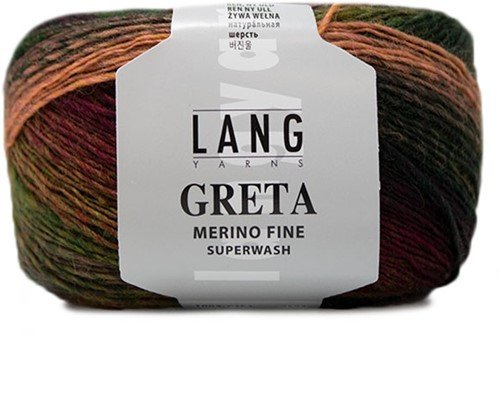 Lang Yarns Greta 154 Olive / Red / Brown