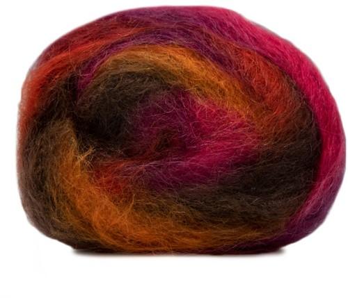 Lang Yarns Victoria 051 Dark Brown / Orange / Fuchsia
