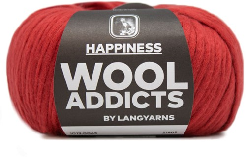 Lang Yarns Wooladdicts Happiness 063 Dark Red