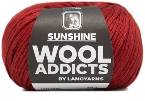 Lang Yarns Wooladdicts Sunshine 063 Dark Red