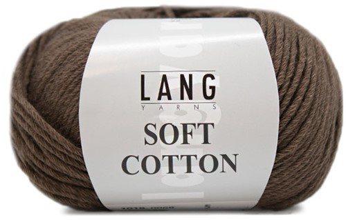 Lang Yarns Soft Cotton 068 Dark Brown