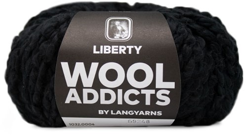 Lang Yarns Wooladdicts Liberty 004 Black
