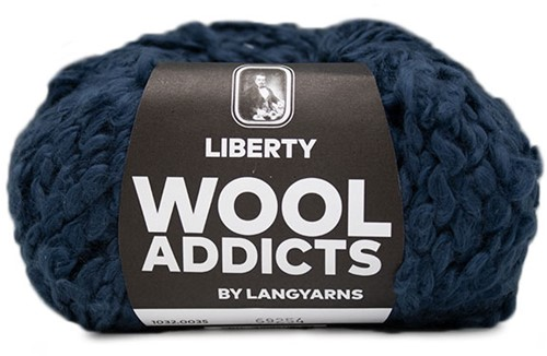 Lang Yarns Wooladdicts Liberty 035 Blue Marine