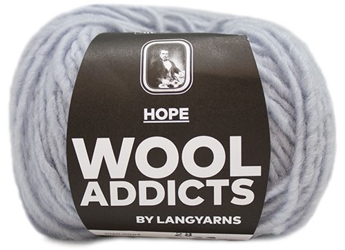 Lang Yarns Wooladdicts Hope 003 Light grey mélange