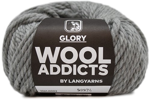 Lang Yarns Wooladdicts Glory 003 Light grey mélange
