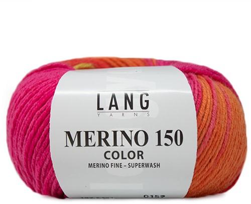 Lang Yarns Merino 150 451 Colorful Orange / Green / Pink