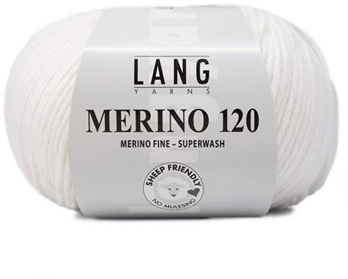 Lang Yarns Merino 120 001 White