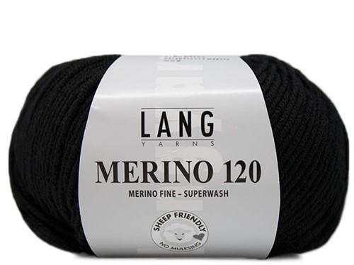 Lang Yarns Merino 120 004 Black