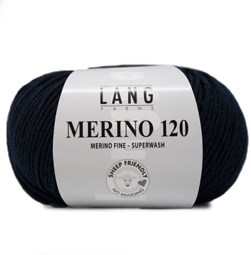 Lang Yarns Merino 120 025 Night Blue