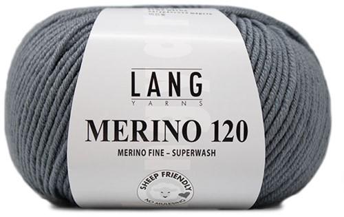 Lang Yarns Merino 120 124 Mouse Grey