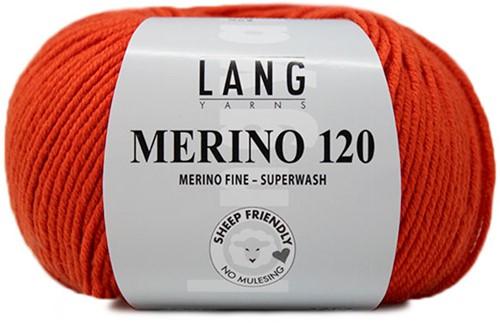 Lang Yarns Merino 120 159 Mandarine