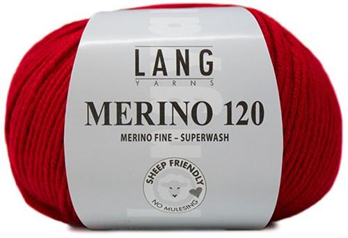 Lang Yarns Merino 120 160 Fire Red