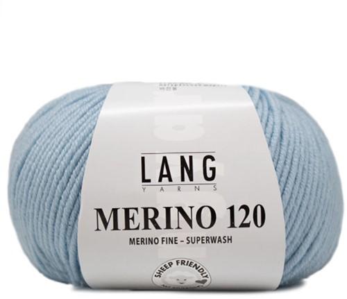 Lang Yarns Merino 120 173 Ice Blue