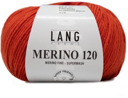Lang Yarns Merino 120 211 Brick