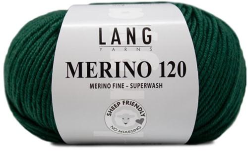 Lang Yarns Merino 120 318 Dark Green