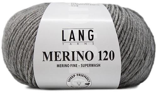 Lang Yarns Merino 120 324 Grey Mélange