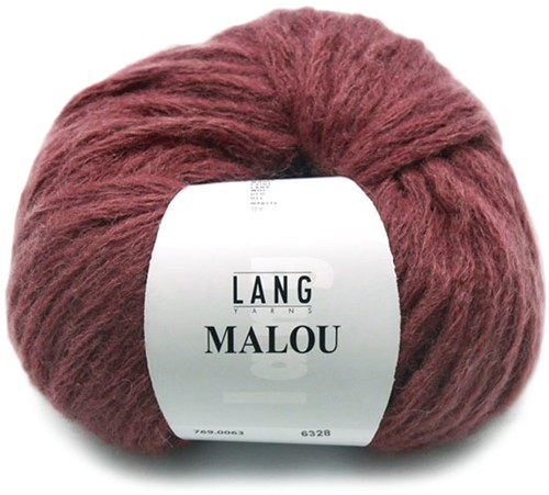 Lang Yarns Malou 63 Dark Red